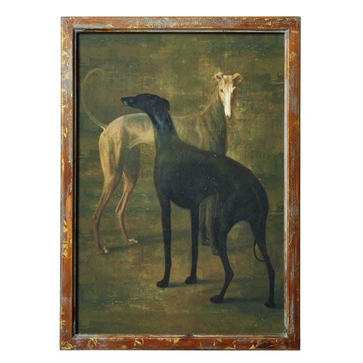 Faithful Greyhounds Framed Print