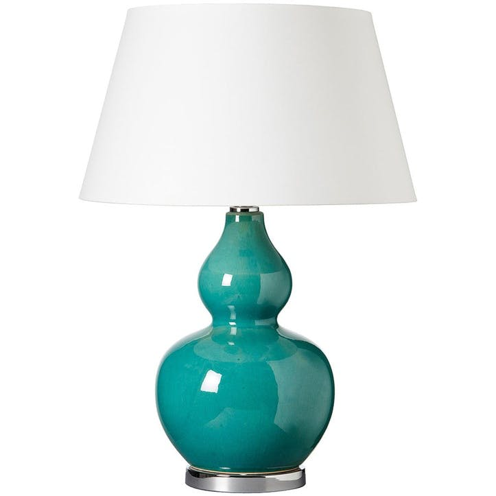 Calabash Table Lamp, Teal