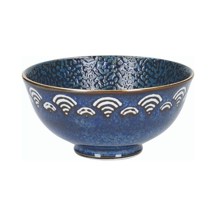 Satori Miso Serving Bowl, Indigo Blue