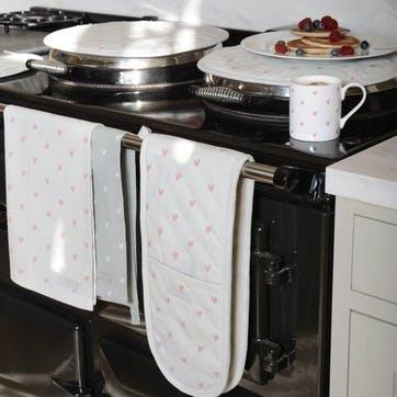 'Hearts' Tea Towels, Set Of 2