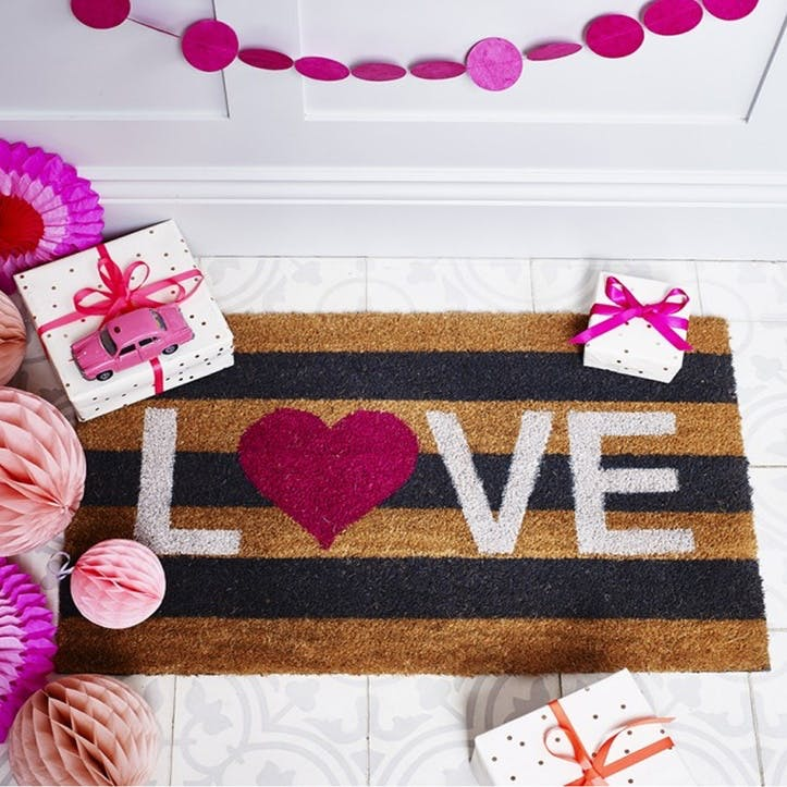 Love Stripes Doormat