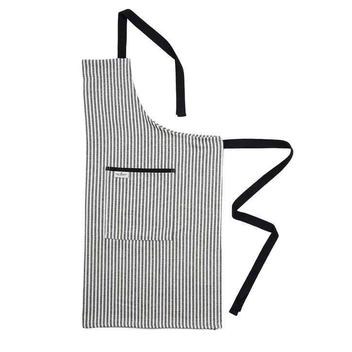 Harbour Stripe Apron; Black & Ecru