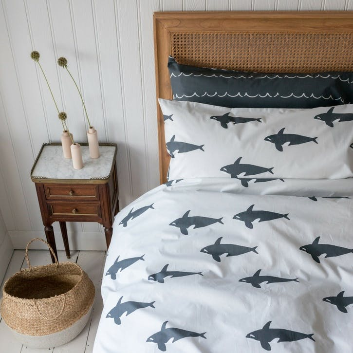 Orca Reversible Duvet Set, King