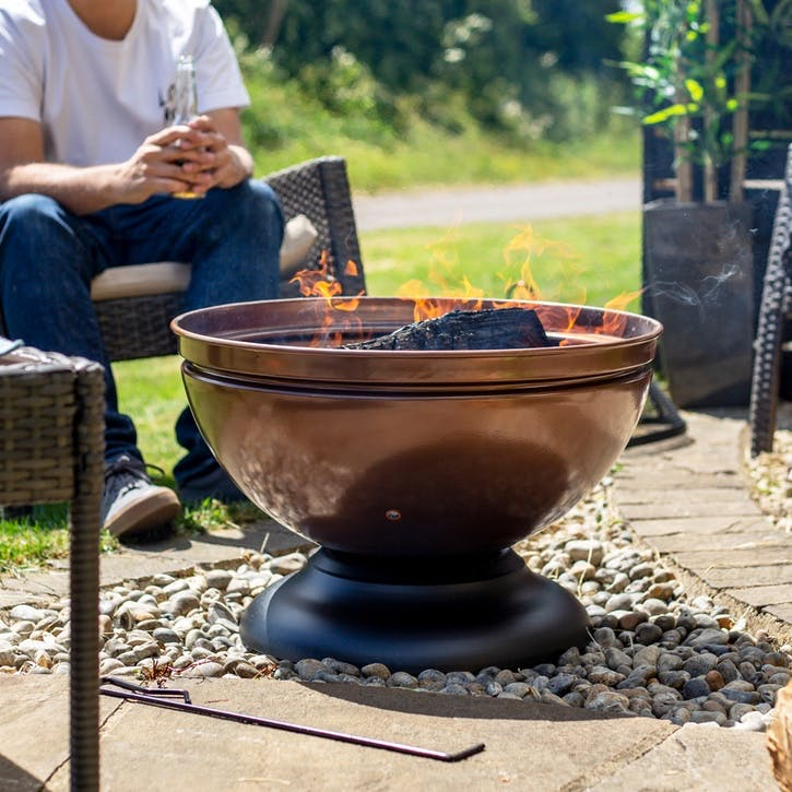 Globe Firepit; Bronze