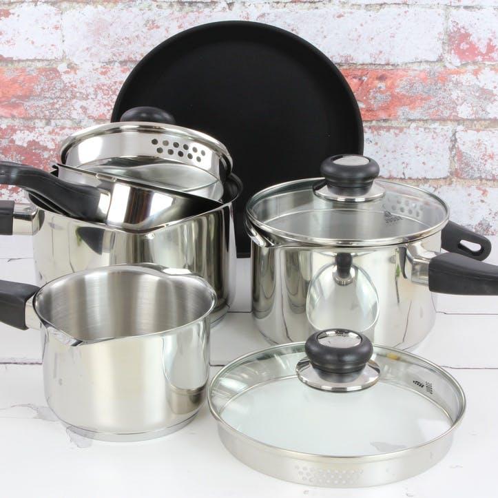 Vista, Draining Saucepan Set, 5 Pieces