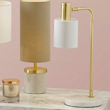 Addison Task Desk Lamp; Marble & Gold