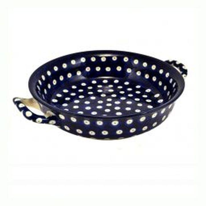 Blue Eyes Round Oven Dish, 21cm