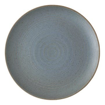 Nature, Side Plate, Dia22cm, Water Blue