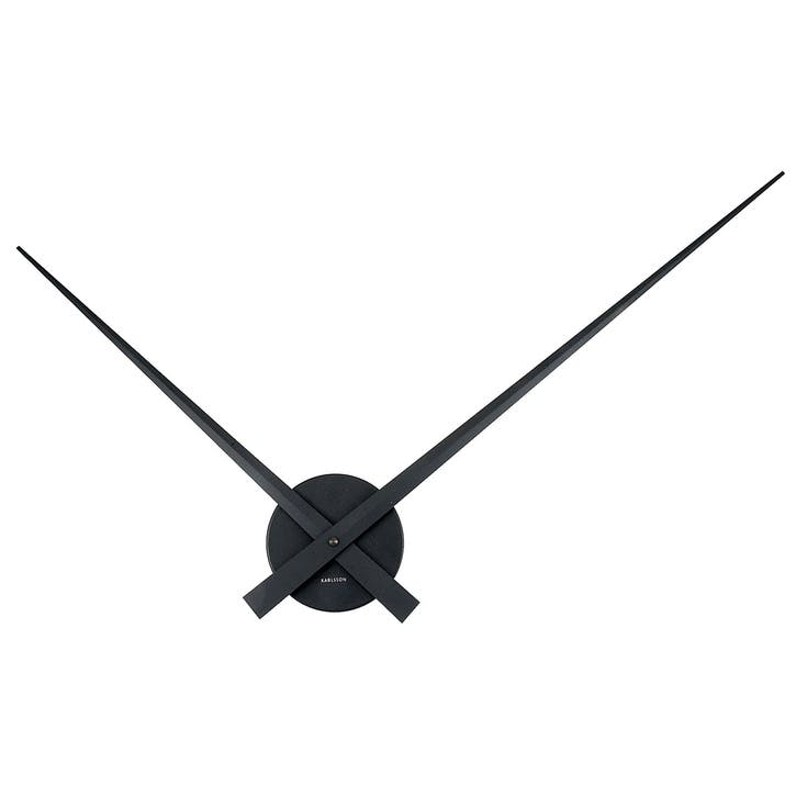Little Big Time Wall Clock, Black