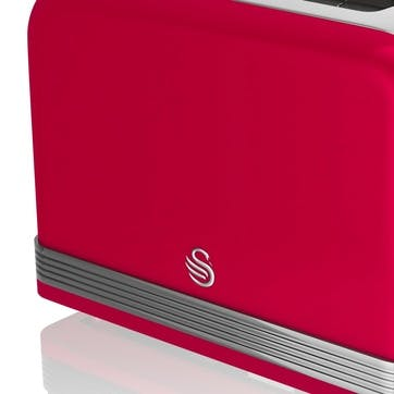 Retro 2-Slice Toaster, Red