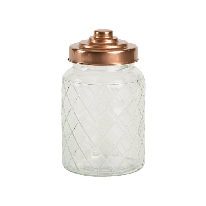 Lattice Glass Jar, Medium