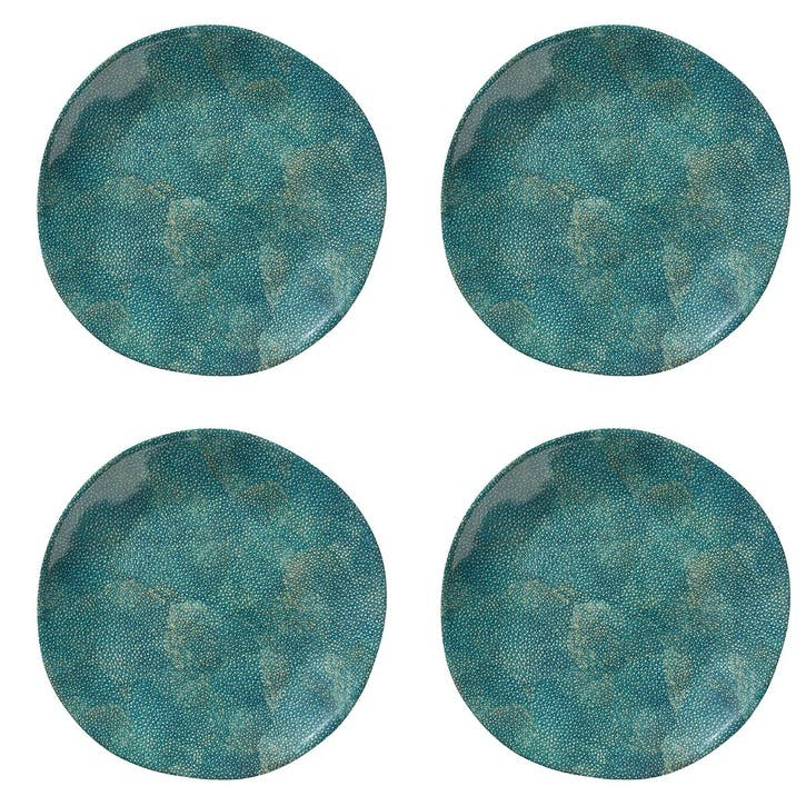 Shagreen Print Dinner Plates, Set of 4