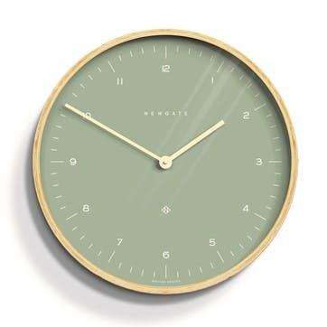 Mr Clarke Wall Clock, Mint Green