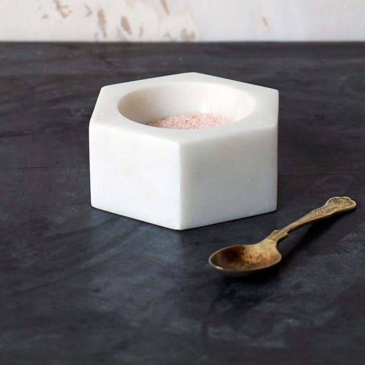 Hexagon Marble Salt Pinch Pot