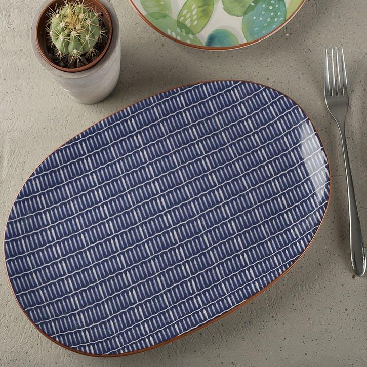 Drift Blue Serve Platter