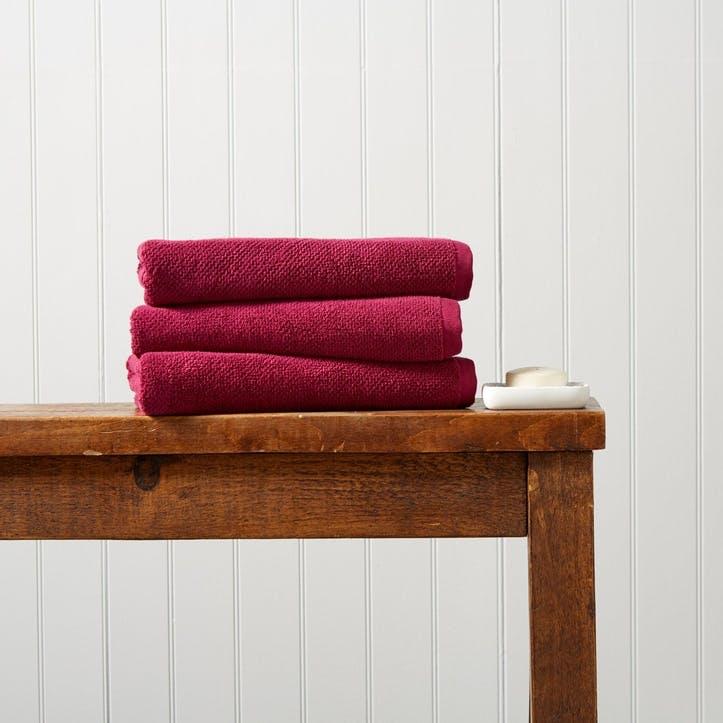 Brixton Hand Towel,  Magenta