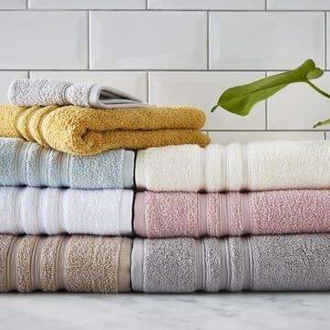 Zero Twist Bath Towel, Silver