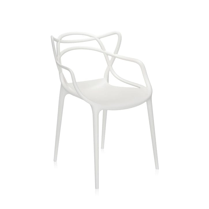 Masters, Pair of Dining Chairs, White
