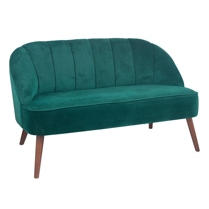 Austen Velvet Sofa, Forest Green