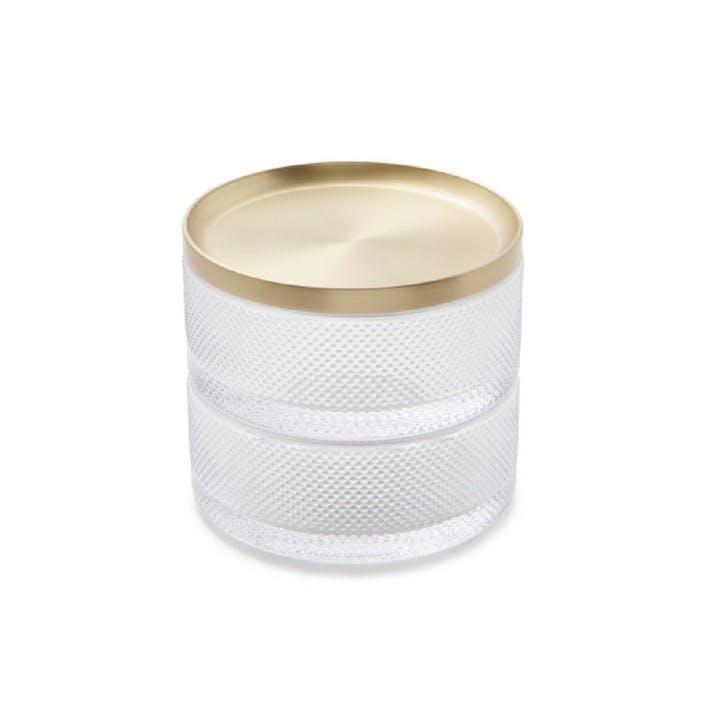 Tesora Storage Box, Brass