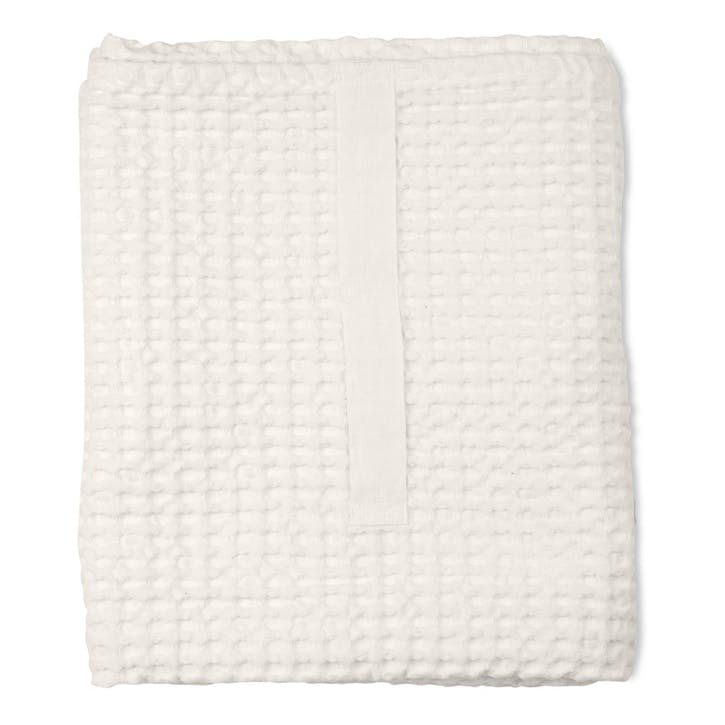 Waffle Towel And Blanket, L150 x W100cm, Natural White