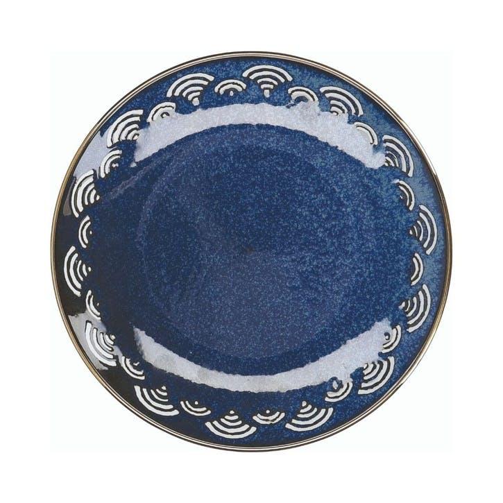 Satori Side Plate, Seigaiha Border