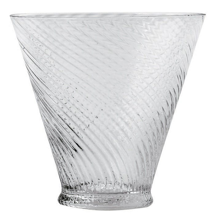 Short Twisted Glass Tumblers, Set of 4
