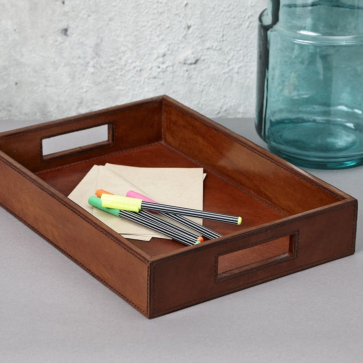 Leather Letter Tray, A4