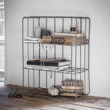 Farringdon Wirework Wall Crate, Charcoal