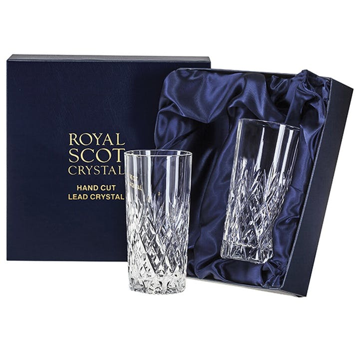 Edinburgh Tall Crystal Tumblers, Set of 2