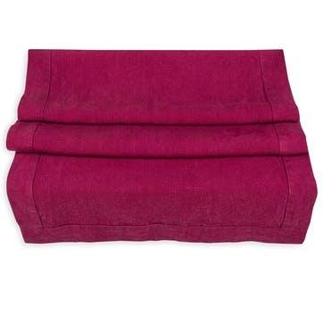Linen Table Runner; Wine Red