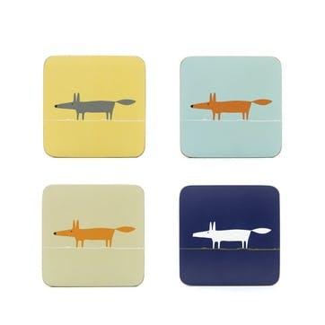 Mr Fox Coasters, Set of 4