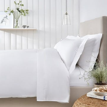 Essentials Egyptian Cotton 200 Thread Count Duvet Cover, Double, White