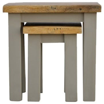 Cotswold Nesting Tables, Set of 2, Grey/Natural