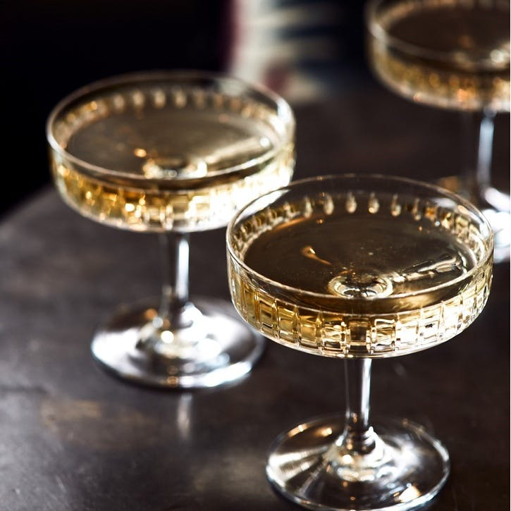 Roebling Cut Crystal Champagne Coupe