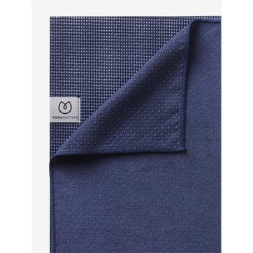 The Grippy Yoga Mat Towel, Navy Blue