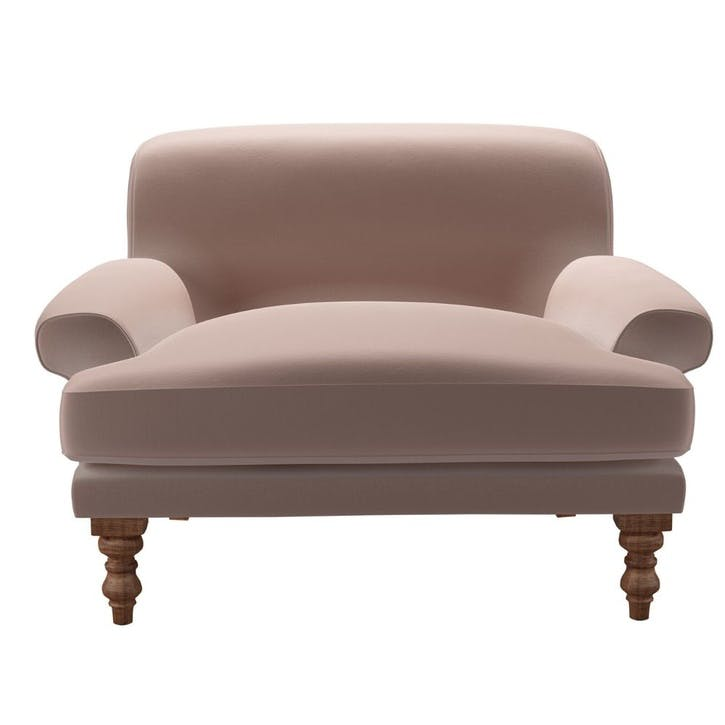 Saturday, Loveseat, Orchid Cotton Matt Velvet