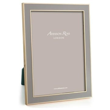 """15mm Gold and Enamel Photo Frame - 8"""" x 10""""; Taupe"""