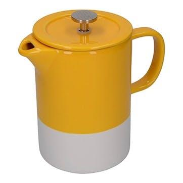 Barcelona Cafetiere, 6 Cup, Mustard