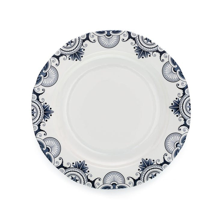 Ink Blue Palisade Dinner Plate