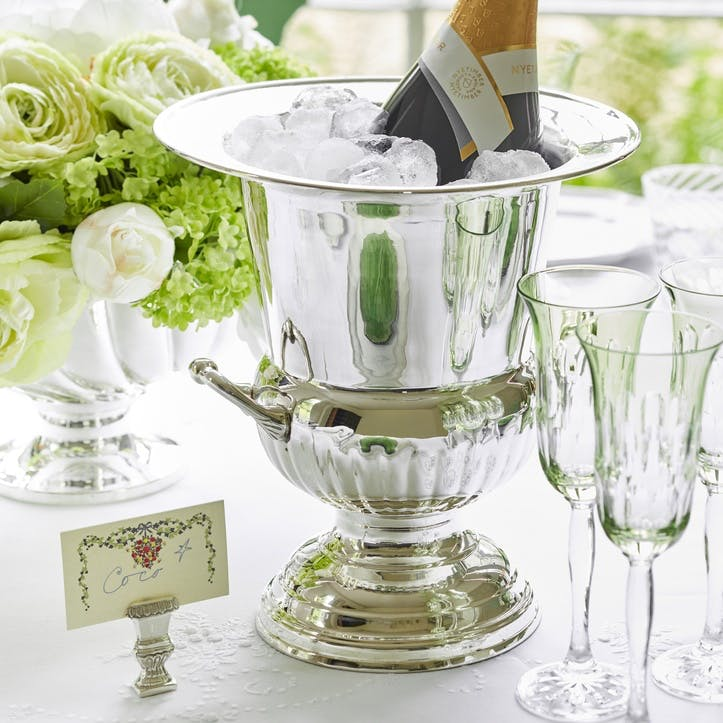 Lancaster Silver Plated Footed Wine Cooler