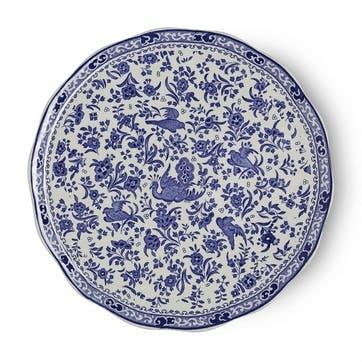 Regal Peacock Cake Plate, 28cm, Blue