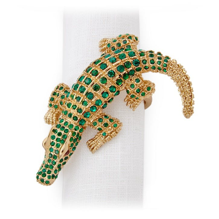 Crocodile Napkin Rings, Set of 4