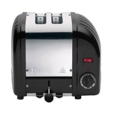 Classic Toaster, 2 Slot; Black