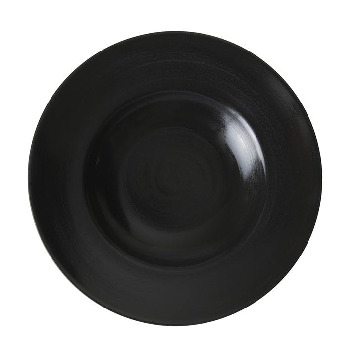 Studio Glaze Rimmed Pasta Bowl - 27cm; Midnight