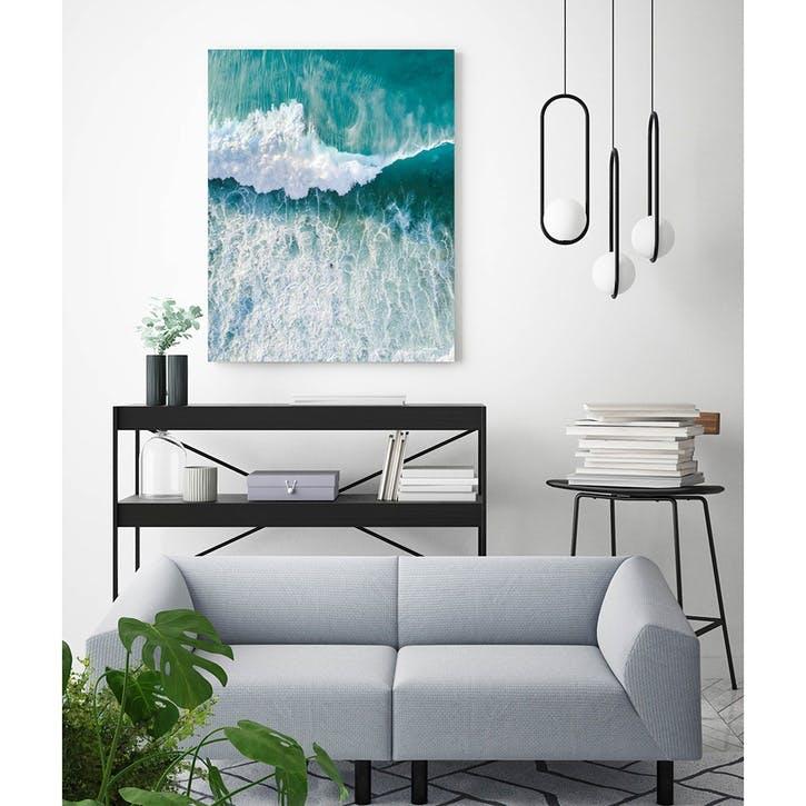 Close-Up Of Wave In Sea ChromaLuxe Metal Print, H61 x W51cm, Multi