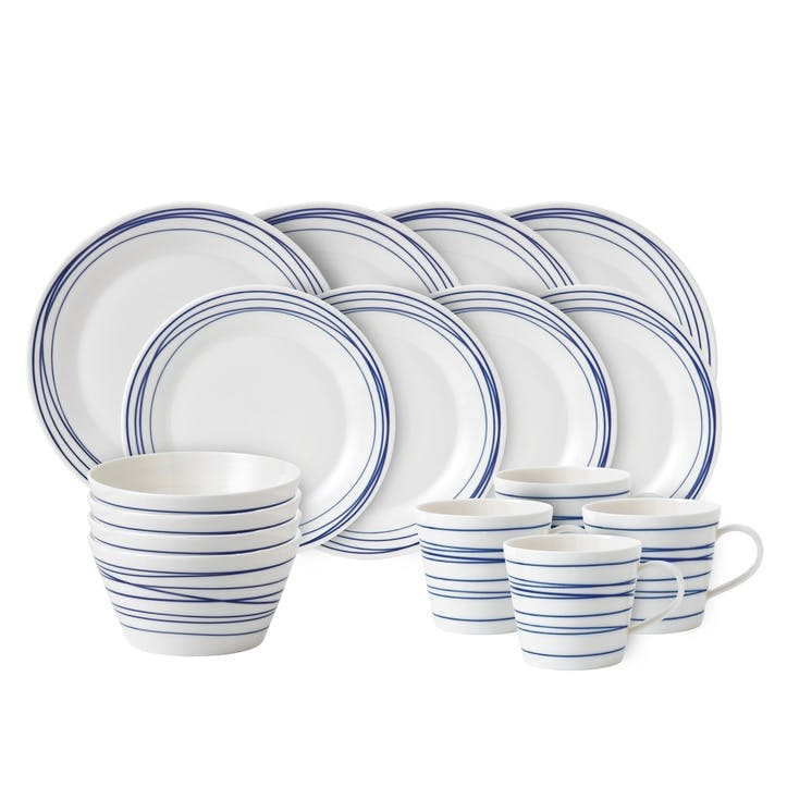 Pacific Lines Dinner Set, 16 Pieces