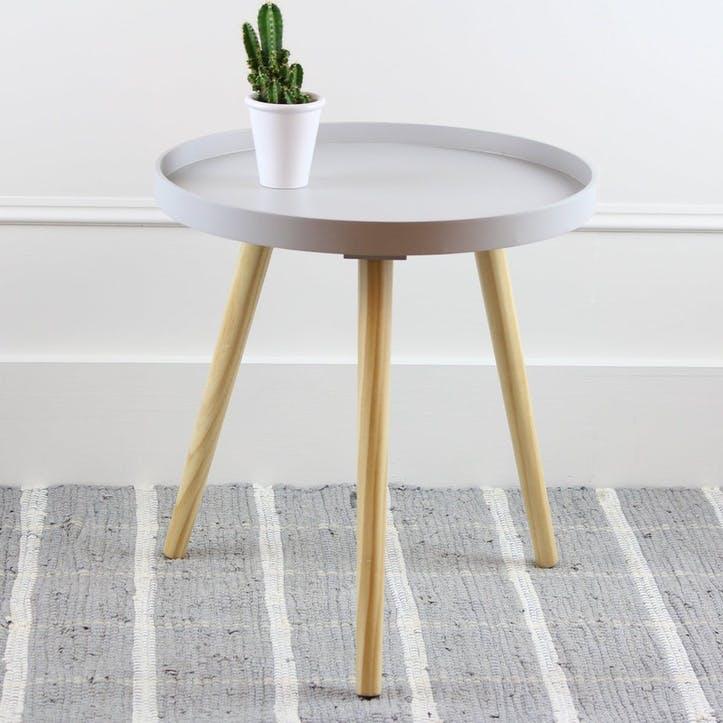 Larsen Side Table, Large, Grey