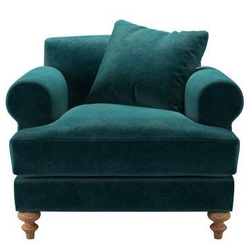Teddy, Armchair, Jade Smart Velvet