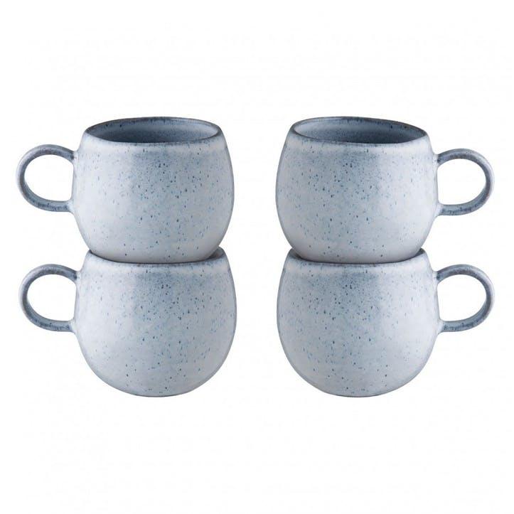 Olmo Mug, Set of 4, Light Blue